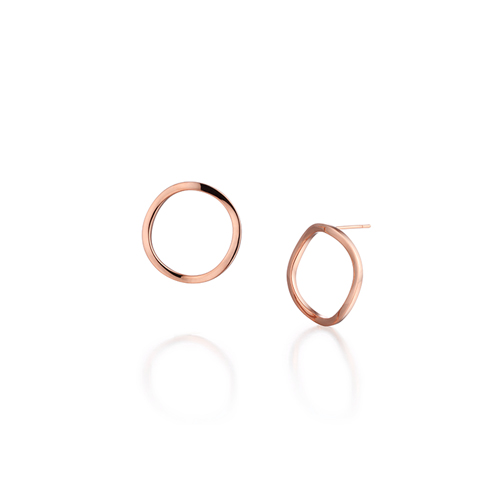 CIRCLE_WAVE_ rose gold