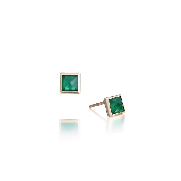 green onyx earring