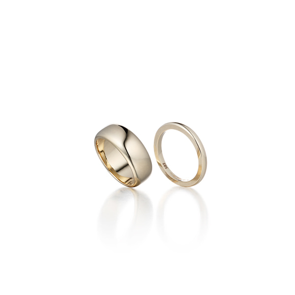 double solid ring_ gold